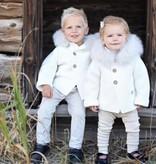 vest met pels wit