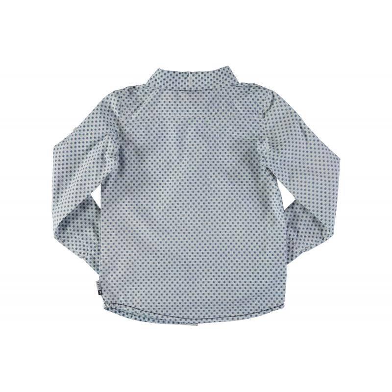 LCEE Kidswear Wit hemd met licht en donker blauw motief