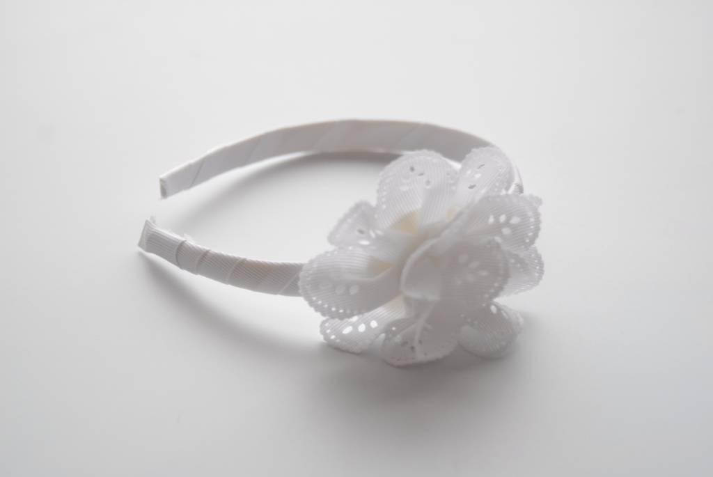 Siena Diadeem met bloem wit