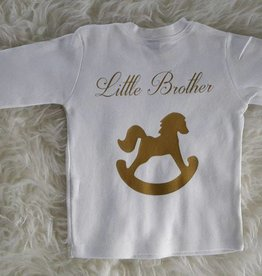 "La Jolie T-shirt baby ""Little brother"" wit"
