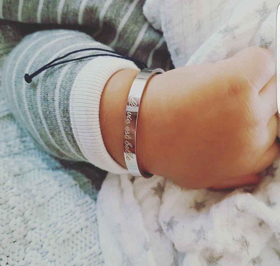 Petite Jae Armband Kids wit goud + donkerblauw