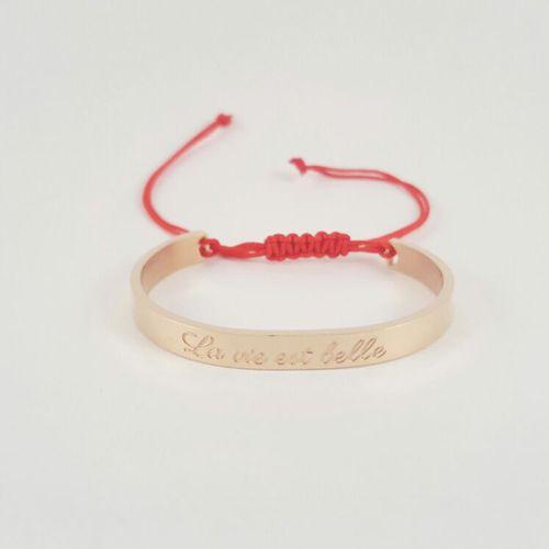Petite Jae Armband Kids Rosé goud + rood