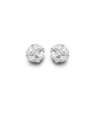 Schaap en Citroen Oorknoppen Diamonds illusion 71-12695