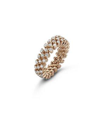 Serafino Consoli Flexibele Ring Brevetto multi size 3rij RMS3F2RGWD