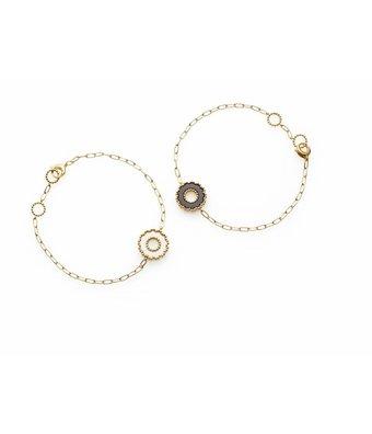 Chantecler Yellow Gold 18 carat Anima 70 Bracelet with 1 White Ornament