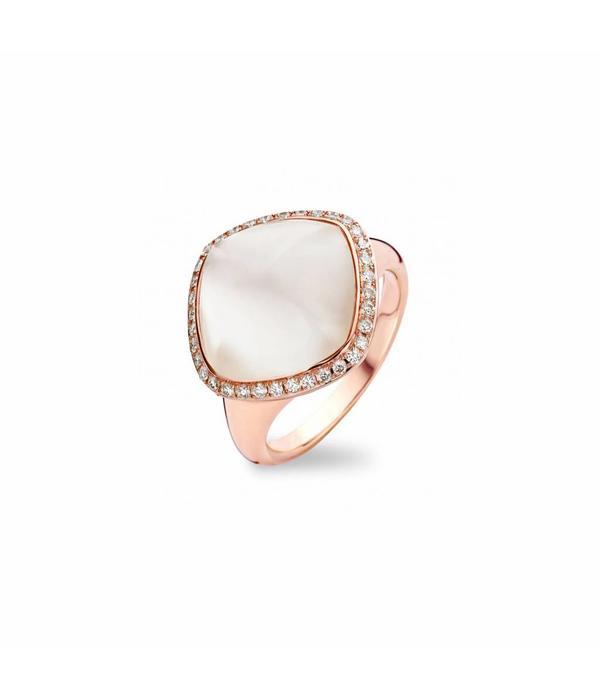 Tirisi Jewelry Ring Manama White Quartz Rhomb