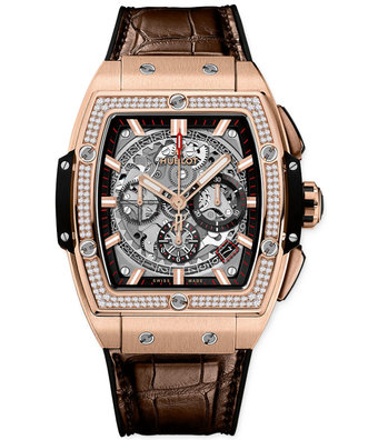 Hublot Horloge Spirit of Big Bang 42mm King Gold Diamonds 641.OX.0183.LR.1104