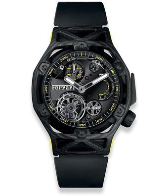 Hublot Horloge Ferrari Techframe 45mm Tourbillon Chronograph 408.QU.0129.RX