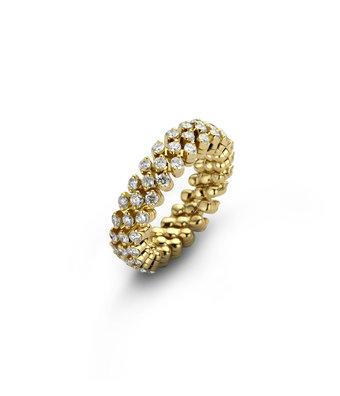 Serafino Consoli Flexibele Ring Brevetto multi size 3rij RMS3F2YGWD