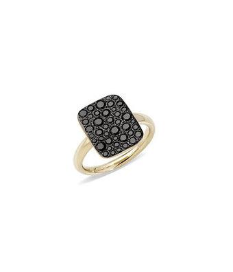 Pomellato Ring Sabbia zwart vierkant A.B903MO7/BB