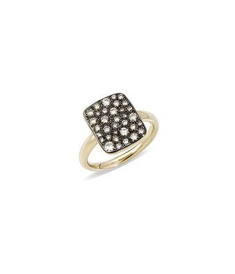 Pomellato Ring Sabbia bruin vierkant A.B903MO7/BR