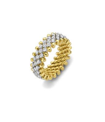 Serafino Consoli Flexibele Ring Brevetto middel multi size 5rij RMS5M2YWGWD