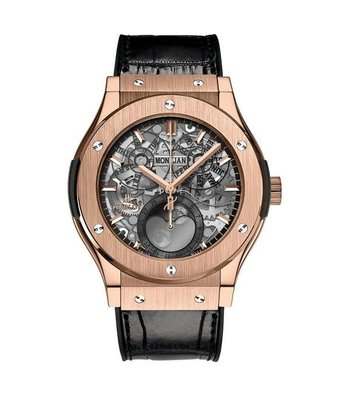 Hublot Horloge Classic Fusion 42mm Aerofusion Moonphase King Gold 517.OX.0180.LR