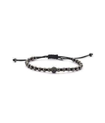 Schaap en Citroen Flexibele Armband Diamonds bolletjes 1 pave zwart 000-3802NS