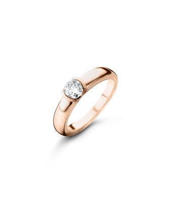 Schaap en Citroen Solitair Ring Diamonds half glad 2267 GIA