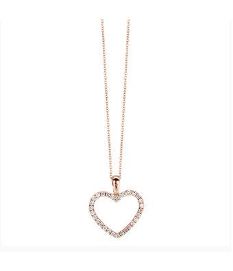 Schaap en Citroen Collier Met Hanger Diamonds hart 370-XN4632