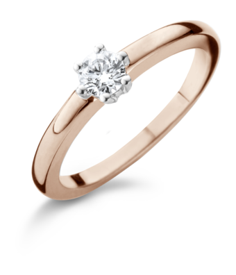 Schaap en Citroen Solitair Ring Diamonds solitair 6-poot 2372