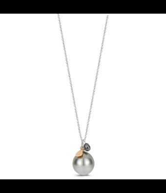 Schaap en Citroen Collier met hanger parel Pearls