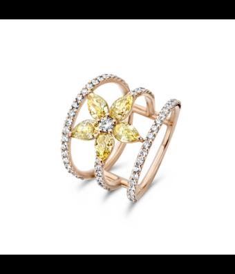 Schaap en Citroen Pave ring Diamonds