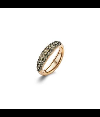 Bigli Ring Flow bruin diamant