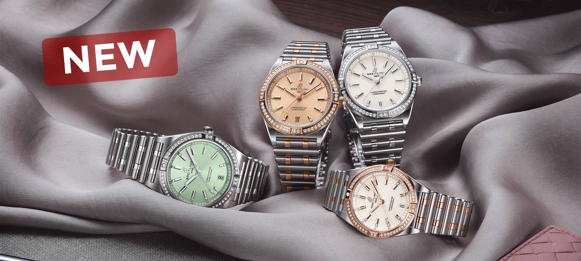 De nieuwe Breitling Chronomat horloge collectie voor dames! Verkrijgbaar in 36mm en 32mm bij Schaap en Citroen.