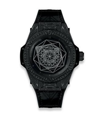 Hublot Horloge Big Bang Unico 39mm Sang Bleu all Black 465.CS.1114.VR.1700.MXM18