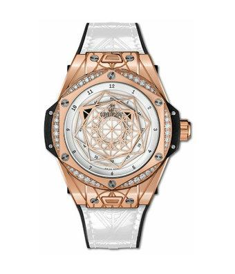 Hublot Horloge Big Bang 39mm Sang Bleu One Click King Gold White 465.OS.2028.VR.1204.MXM19