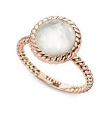 Tirisi Moda Ring Shabby Chic kristal en wit parelmoer