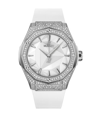Hublot Horloge Classicc Fusion 40mm Orlinski Titanium White Pave 550.NS.2200.RW.1604.ORL20