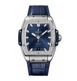 Hublot Horloge Spirit of Big bang 39mm Titanium Blue Diamonds 665.NX.7170.LR.1204