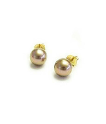 Schaap en Citroen Oorknoppen Pearls bruin Tahiti parel