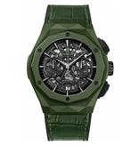 Hublot Horloge Classic Fusion 45mm Orlinski Aerofusion Green Ceramic Chronograph 525.GX.0179.LR.ORL19