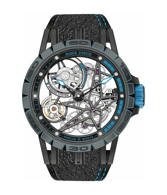 Roger Dubuis Horloge Excalibur Spider 45mm Pirelli Blue RDDBEX0746
