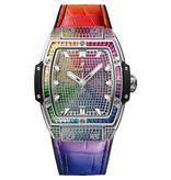 Hublot Horloge Spirit of Big Bang 39mm Titanium Rainbow 665.NX.09910.LR.0999