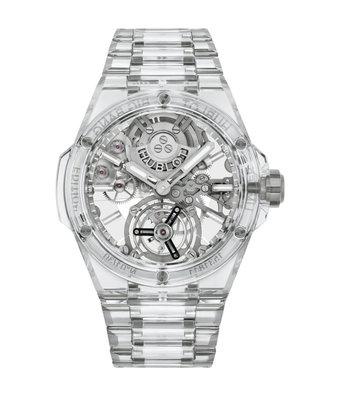 Hublot Horloge Big Bang 43mm Integral Tourbillon Full Sapphire 455.JX.0120.JX