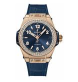 Hublot Horloge Big Bang 39mm One Click King Gold Blue Diamonds 465.OX.7180.LR.1204