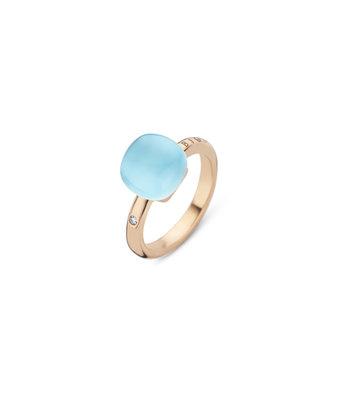 Bigli Ring Mini Sweety triplette blauw topaas/parelmoer/turquoise 20R88Rbtmpturch
