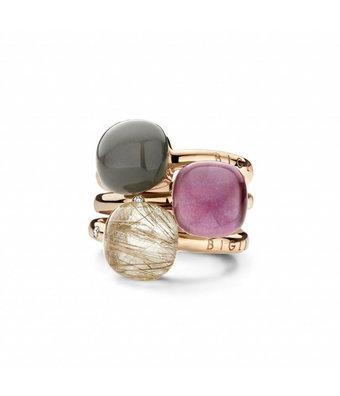 Bigli Ring Mini Sweety doublette grijs adularia/parelmoer 20R88Radgrmp
