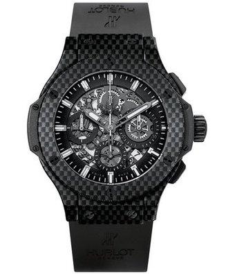 Hublot Horloge Big Bang 44mm Chronograph All Carbon 311.QX.1124.RX