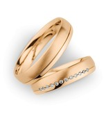 Christian Bauer Wedding Rings 14 Carat Rose Gold 12 Brilliants [245434 / 274391]