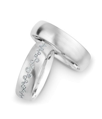Christian Bauer Wedding Rings 14 Carat White Gold 25 Brilliants [246929 / 270429]