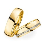 Christian Bauer Wedding Rings 18 Carat Yellow Gold 35 Brilliants [246725 / 270952]