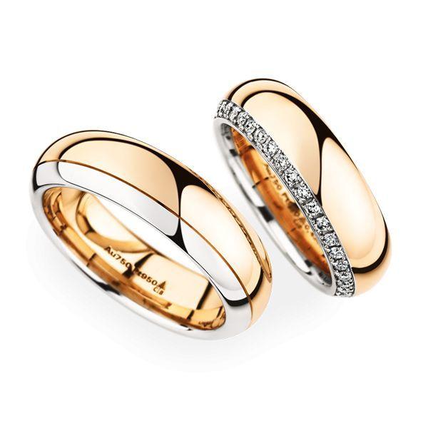 Wedding Rings 18 Carat Rose Gold 38 Brilliants