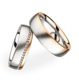 Christian Bauer Wedding Rings 18 Carat Rose Gold 50 Brilliants [246650 / 273895]