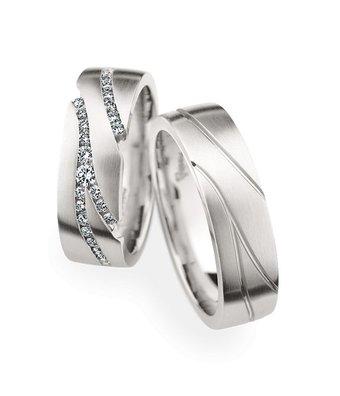 Christian Bauer Wedding Rings 950 Platina 57 Brilliants [246836 / 274191]
