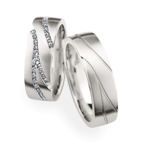 Wedding Rings 950 Platina 57 Brilliants