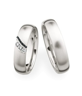 Christian Bauer Wedding Rings 950 Platina 9 Brilliants [245399 / 270540]