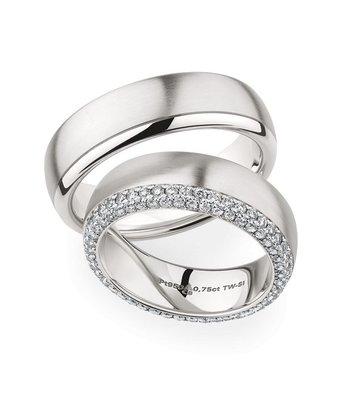 Christian Bauer Wedding Rings 950 Platina 92 Brilliants [0246909 / 0274314]