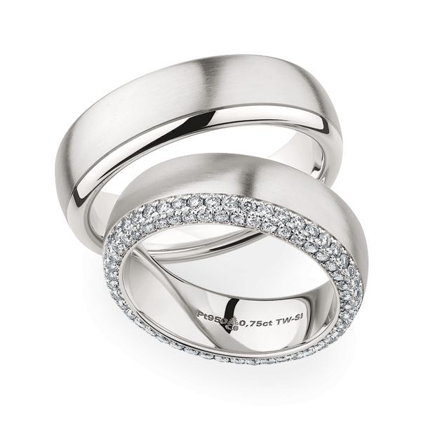 Wedding Rings 950 Platina 92 Brilliants