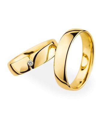 Christian Bauer Wedding Rings 18 Carat Yellow Gold 1 Brilliant [20050 / 20050]